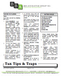 Tax Tips & Traps